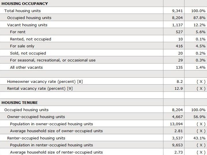 Canton GA Census Report